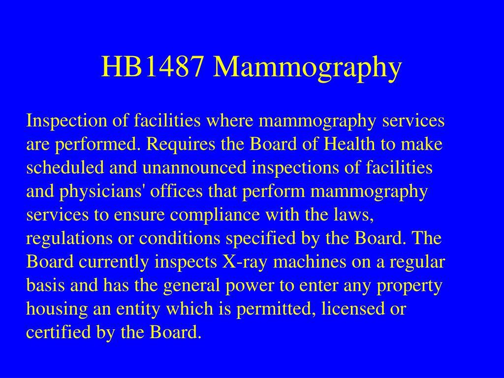 HB1487 Mammography