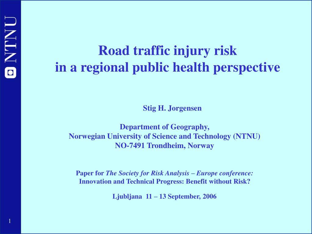 Road traffic injury risk