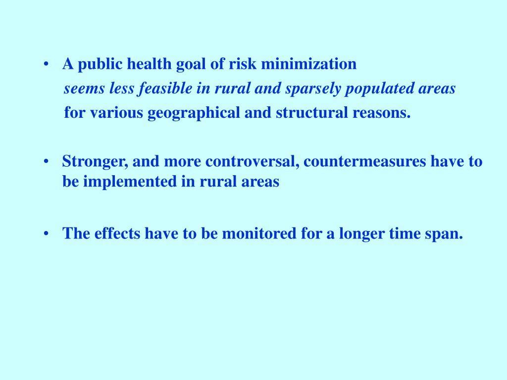 A public health goal of risk minimization