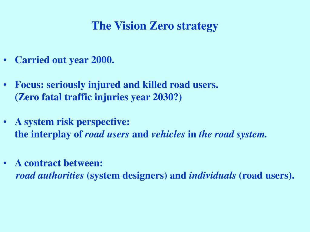 The Vision Zero strategy
