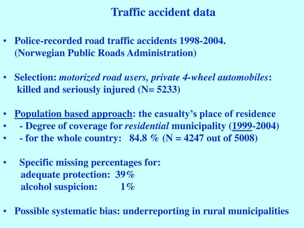 Traffic accident data