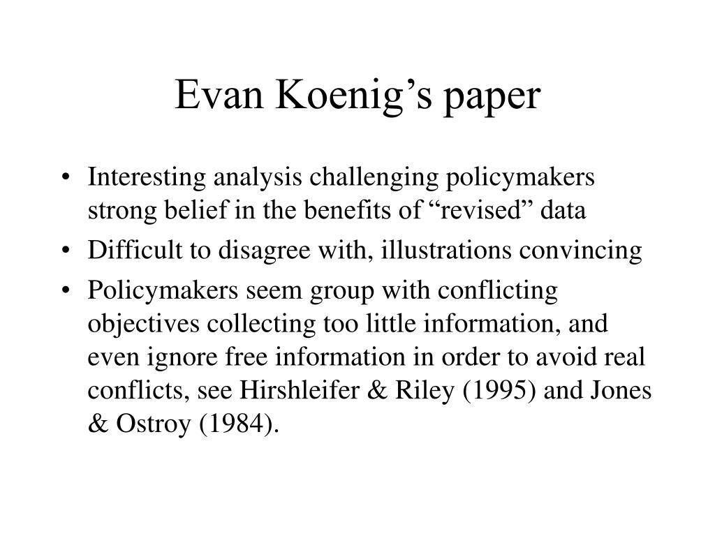 Evan Koenig's paper