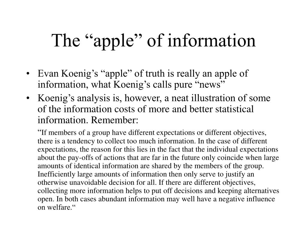 "The ""apple"" of information"