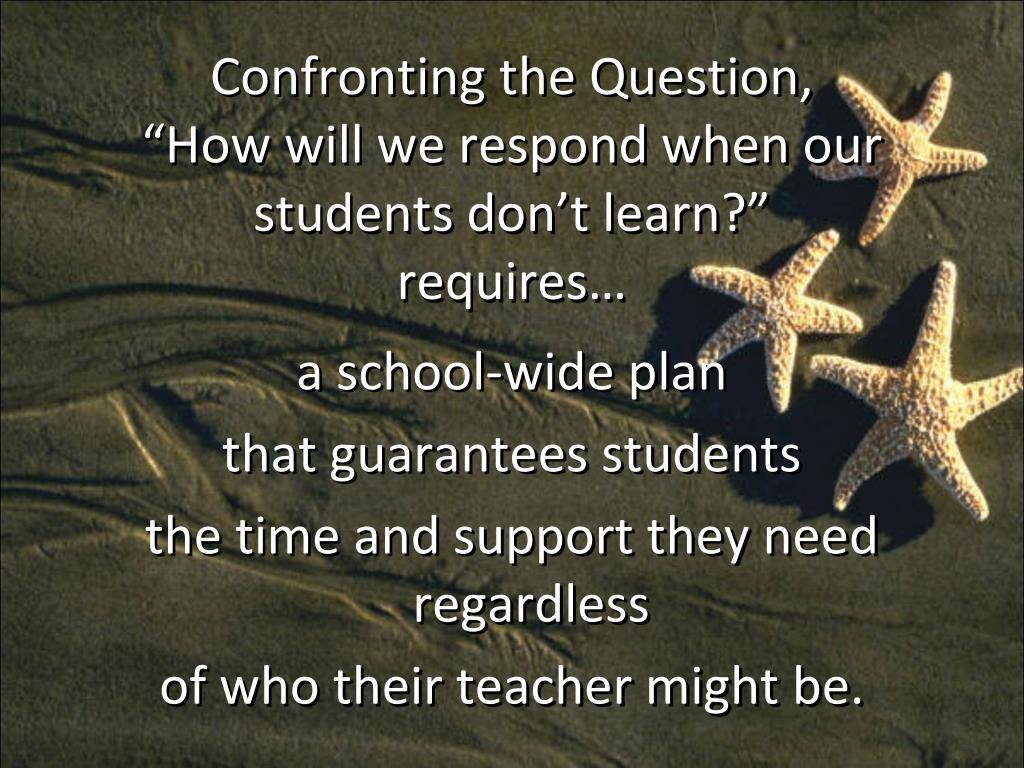 Confronting the Question,