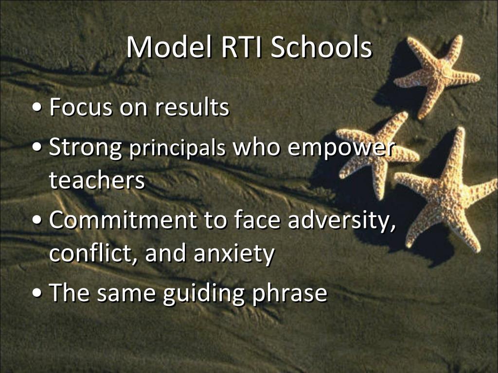 Model RTI Schools