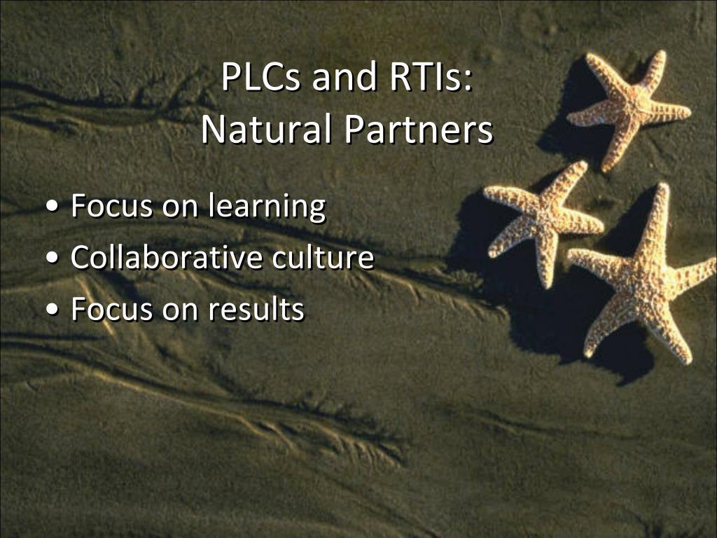 PLCs and RTIs: