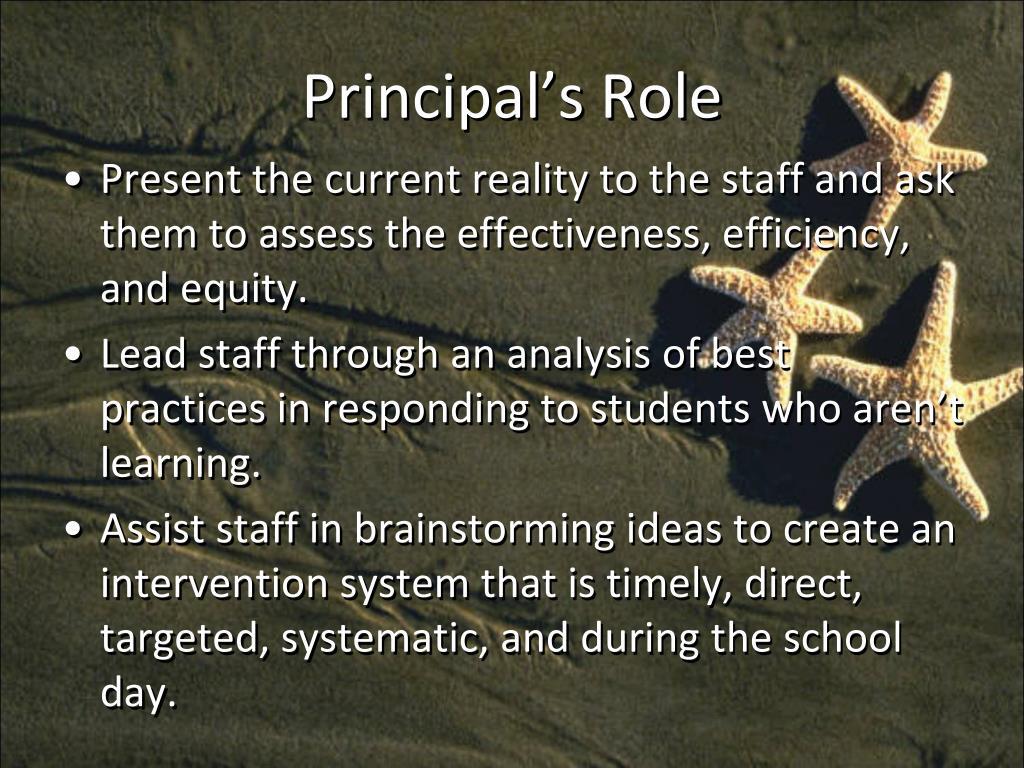 Principal's Role
