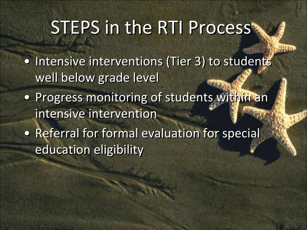 STEPS in the RTI Process