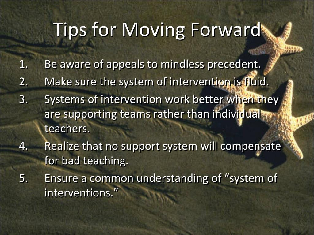 Tips for Moving Forward