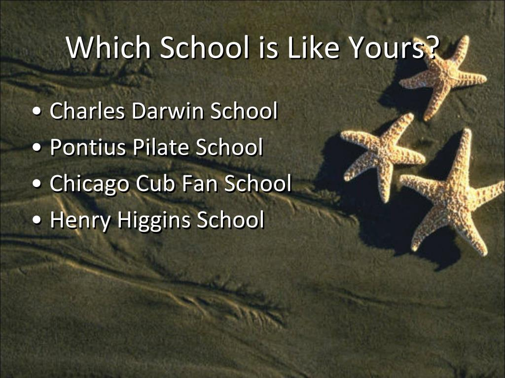 Which School is Like Yours?