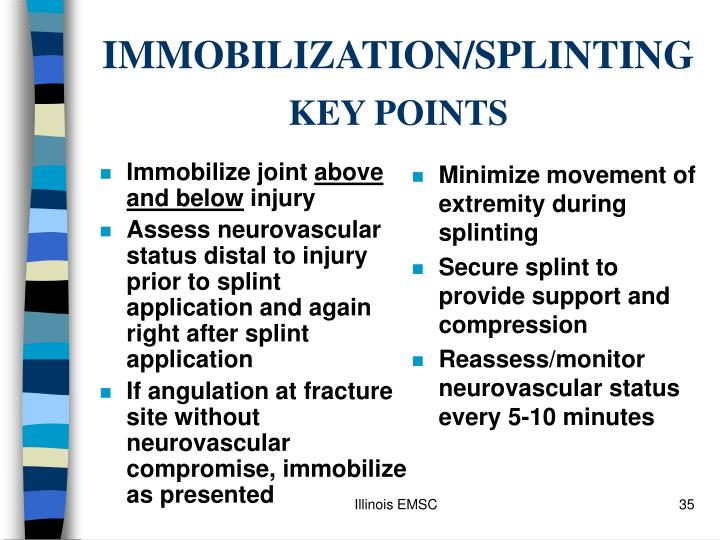 Immobilize joint