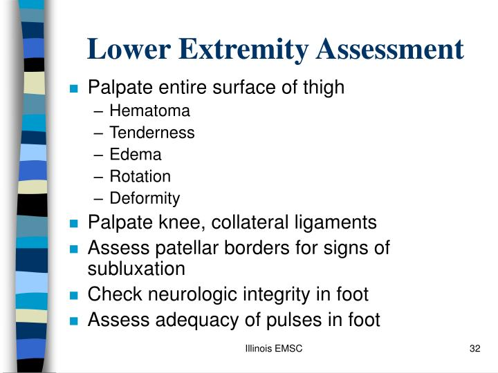 Lower Extremity Assessment