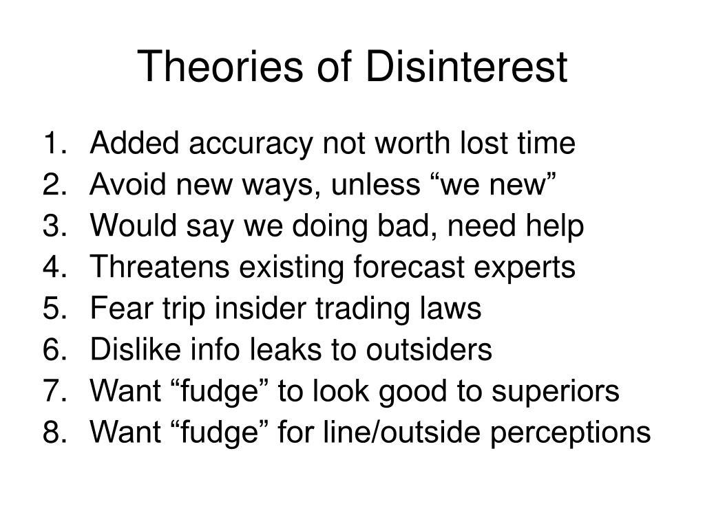 Theories of Disinterest