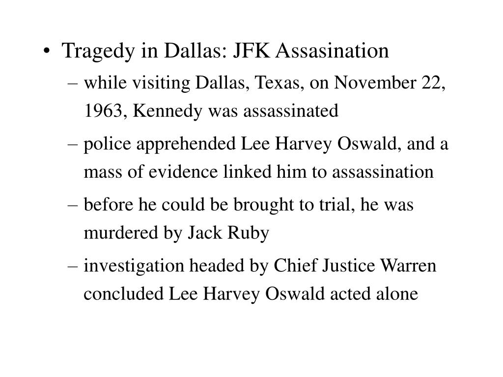 Tragedy in Dallas: JFK Assasination