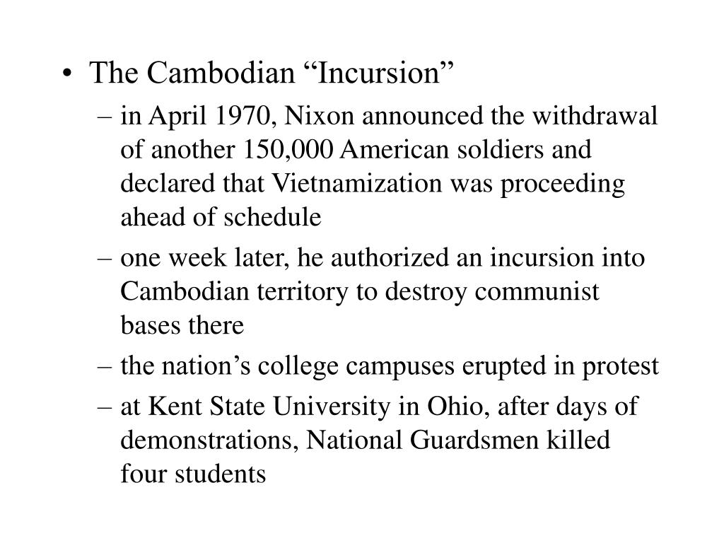 "The Cambodian ""Incursion"""