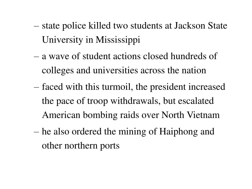state police killed two students at Jackson State University in Mississippi