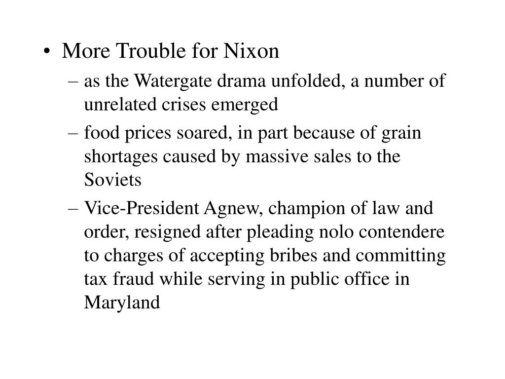 More Trouble for Nixon