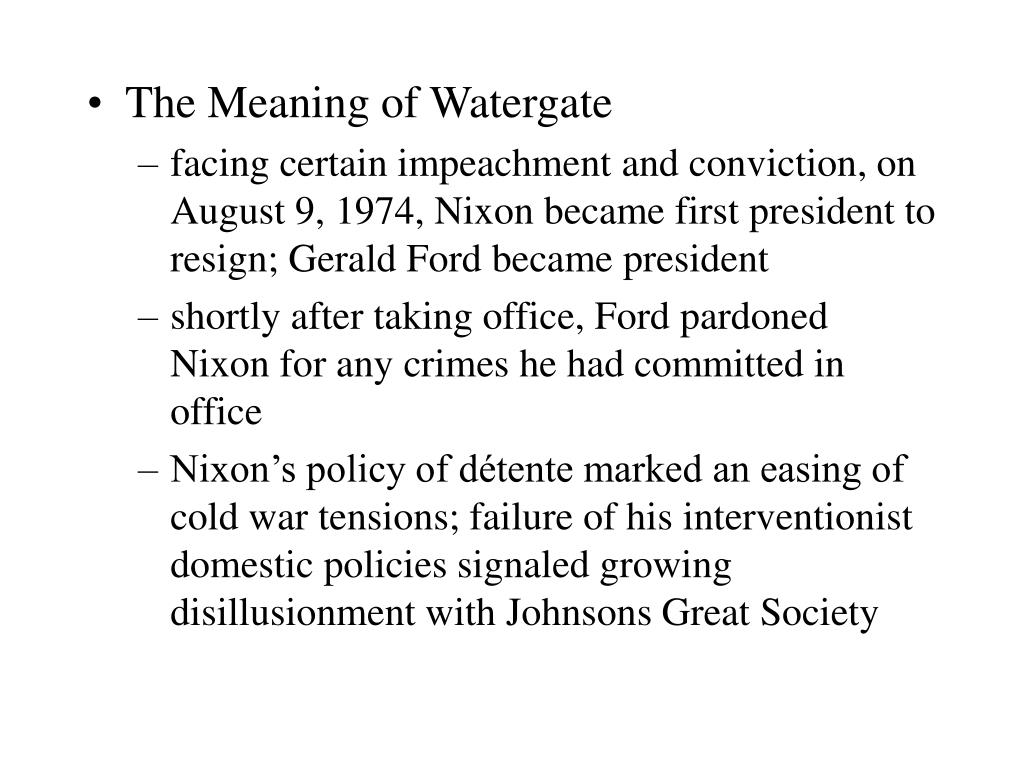 The Meaning of Watergate