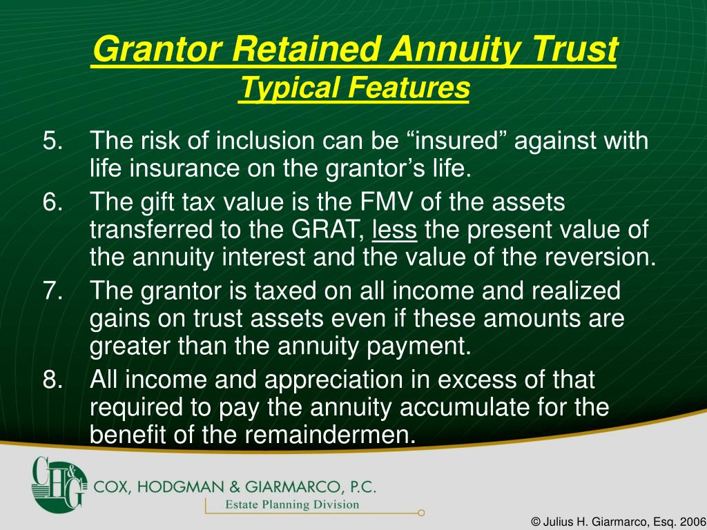 Grantor Retained Annuity Trust