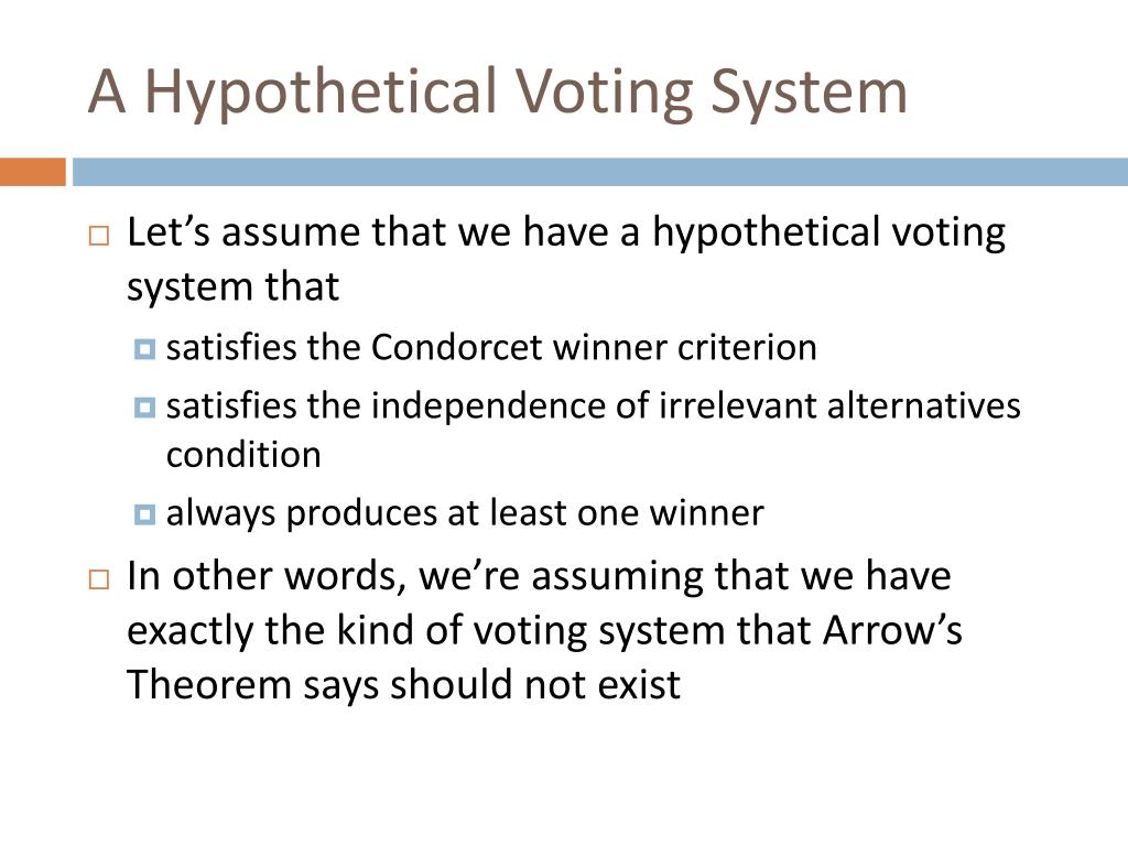 A Hypothetical Voting System
