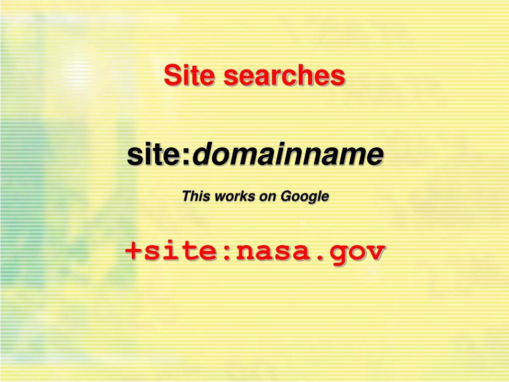 Site searches