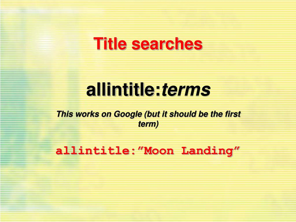 Title searches