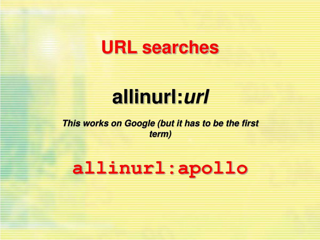 URL searches