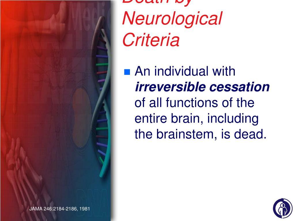Death by Neurological Criteria