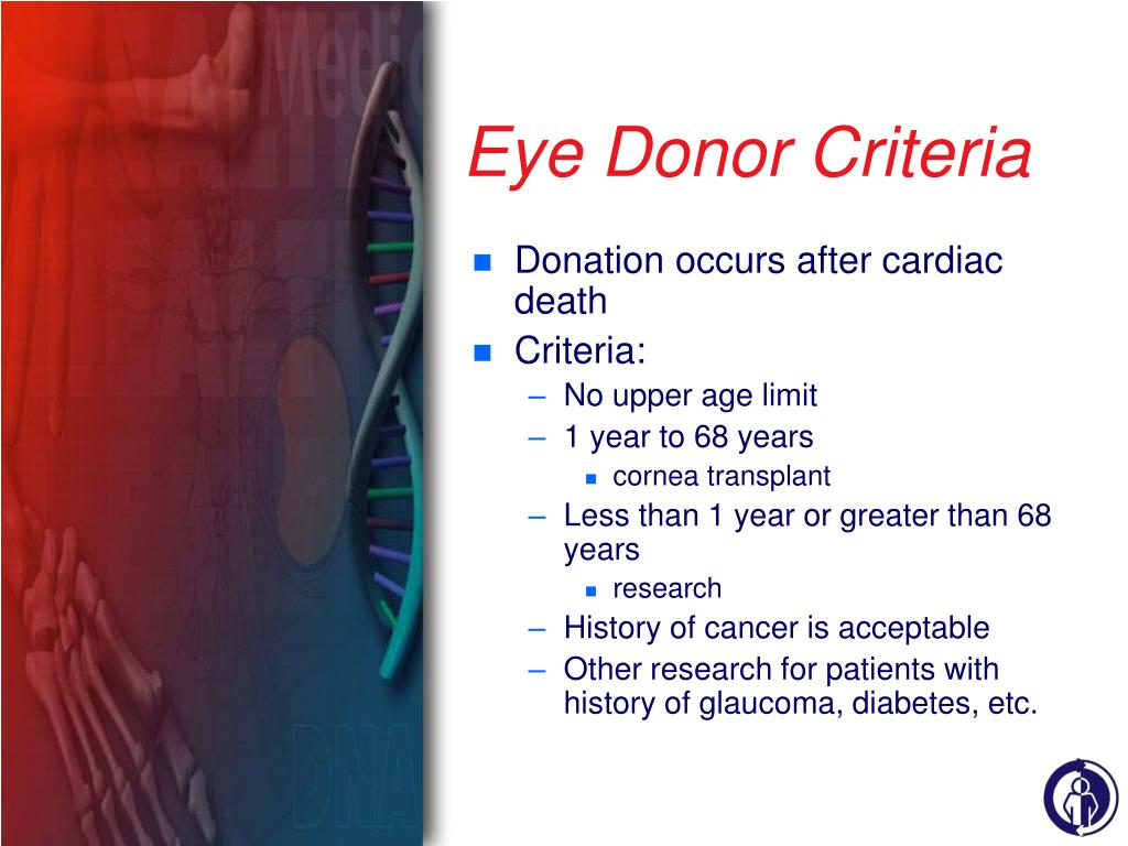 Eye Donor Criteria