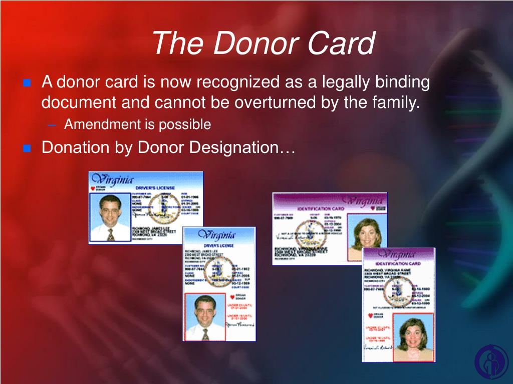The Donor Card