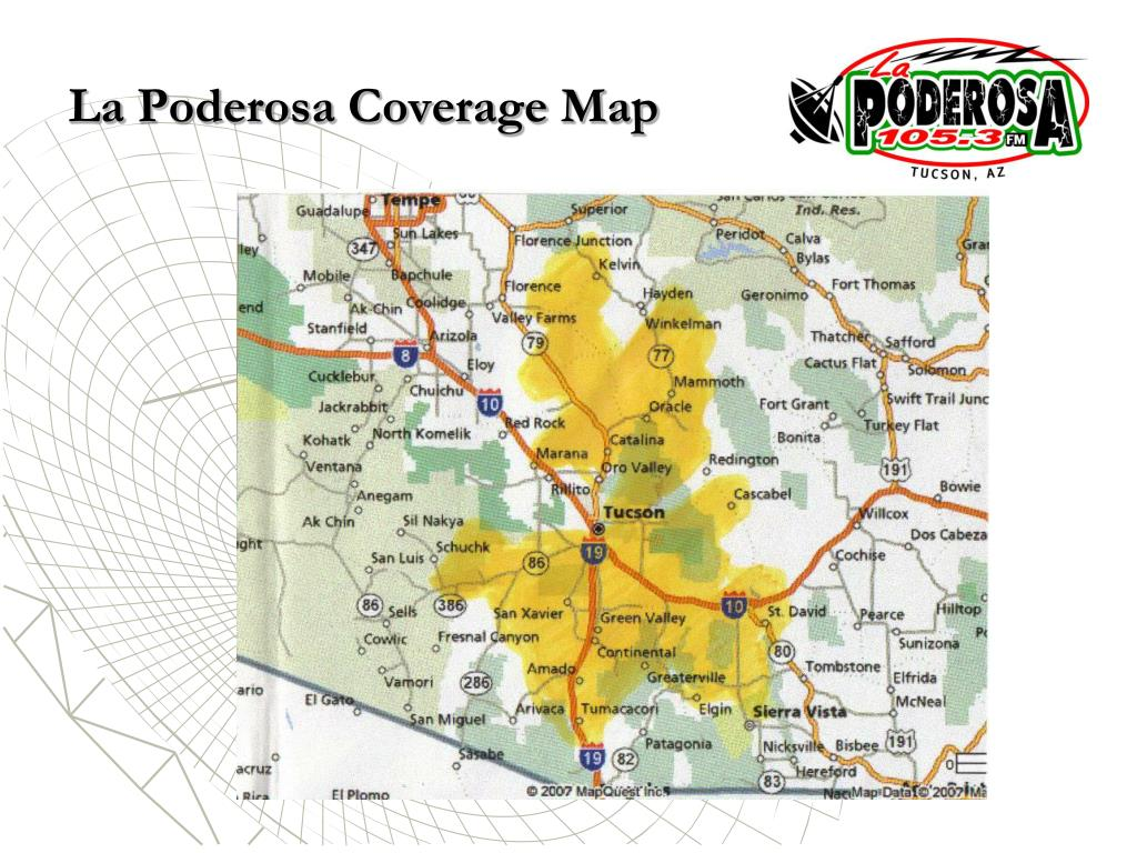 La Poderosa Coverage Map