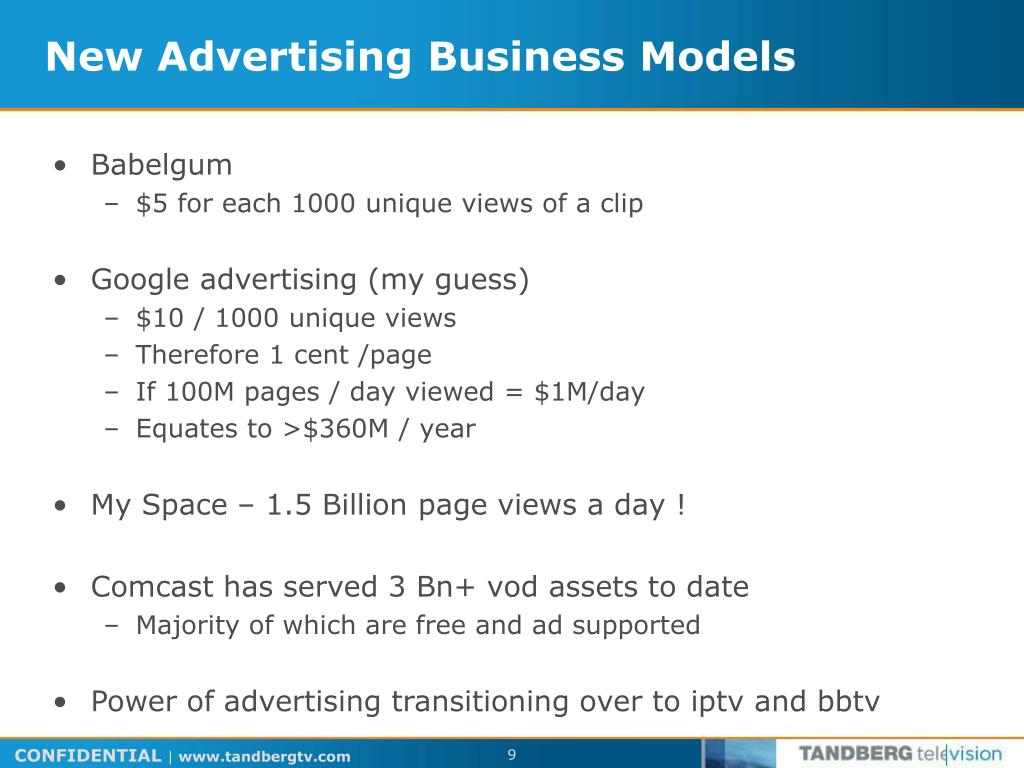 New Advertising Business Models