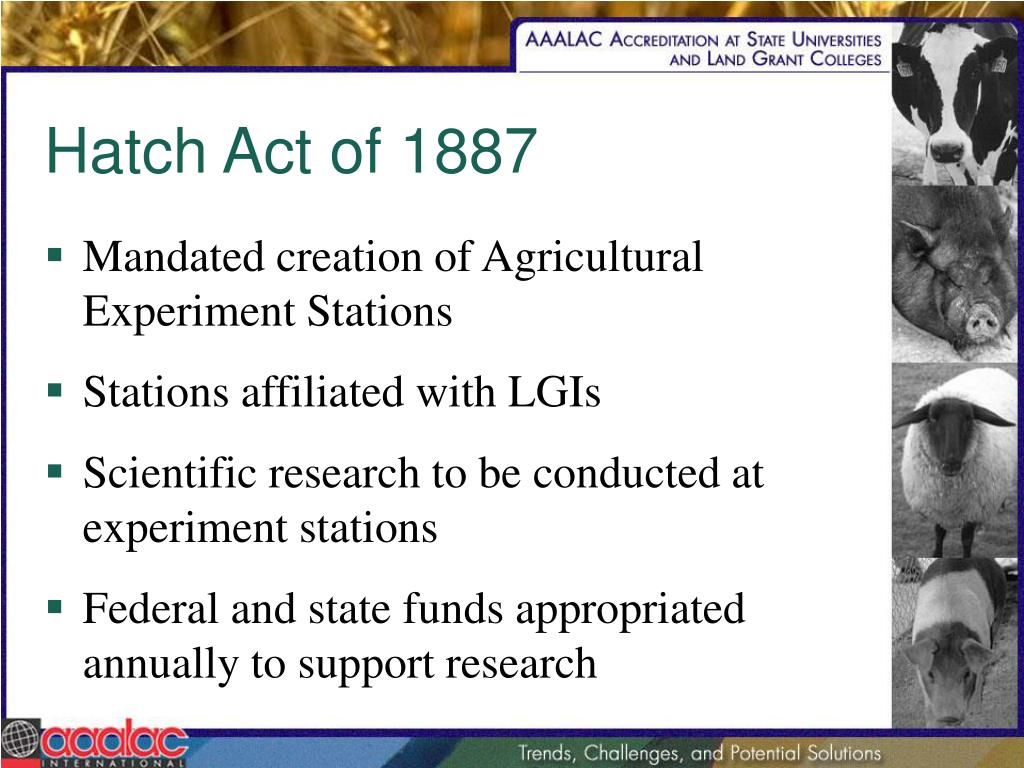 Hatch Act of 1887
