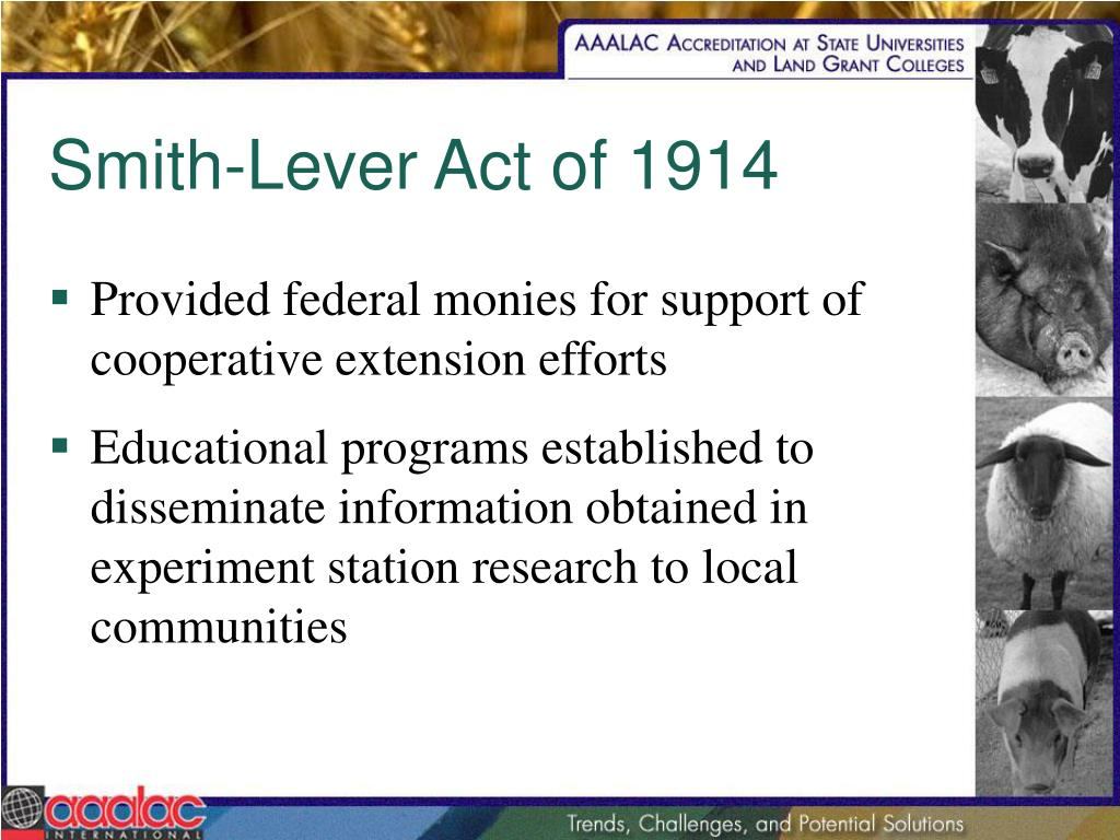 Smith-Lever Act of 1914