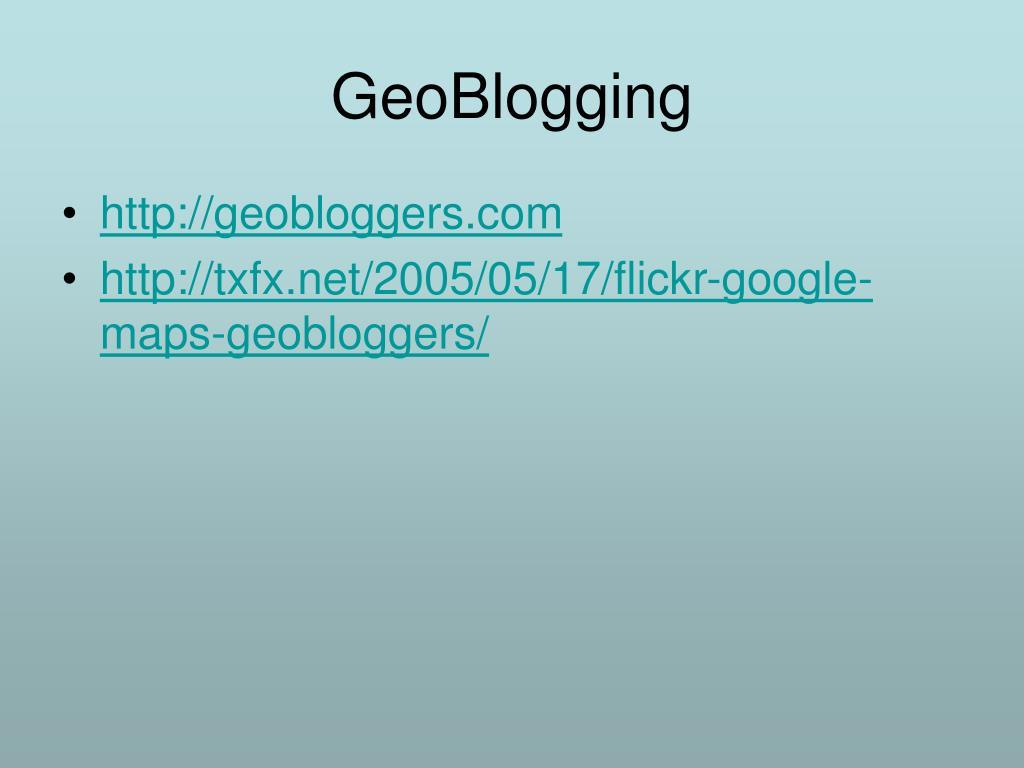 GeoBlogging