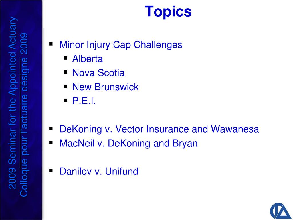 Minor Injury Cap Challenges