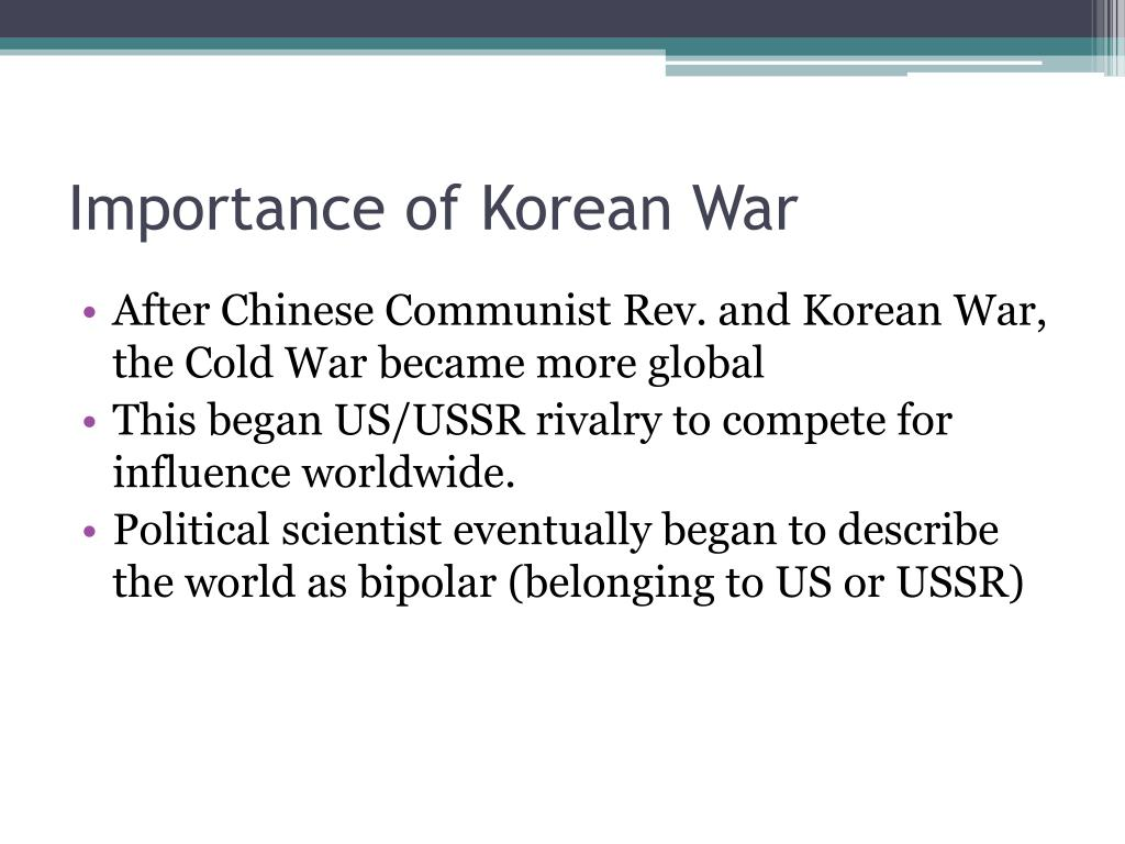 Importance of Korean War