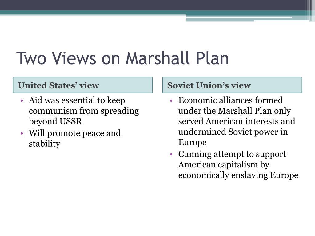 Two Views on Marshall Plan
