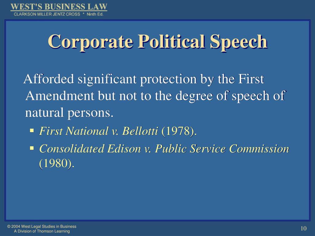 Corporate Political Speech