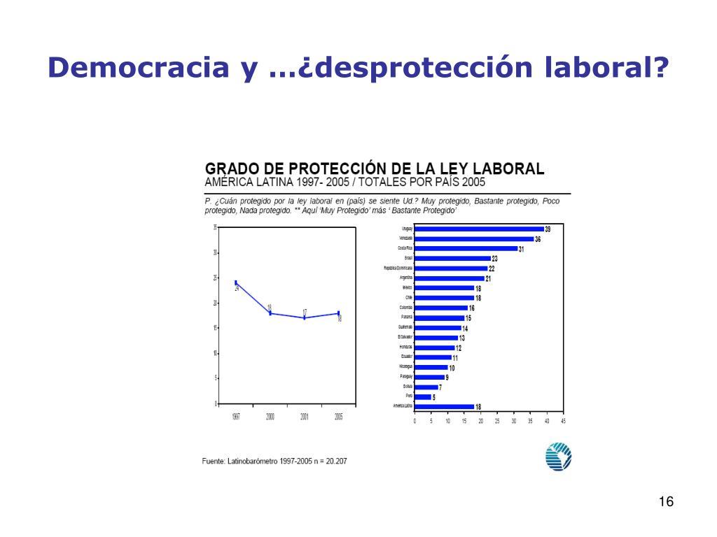 Democracia y …¿desprotección laboral?