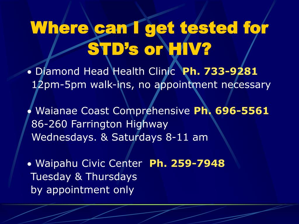 Where can I get tested for STD's or HIV?
