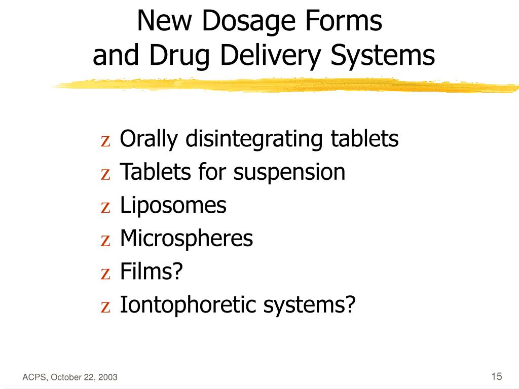 New Dosage Forms