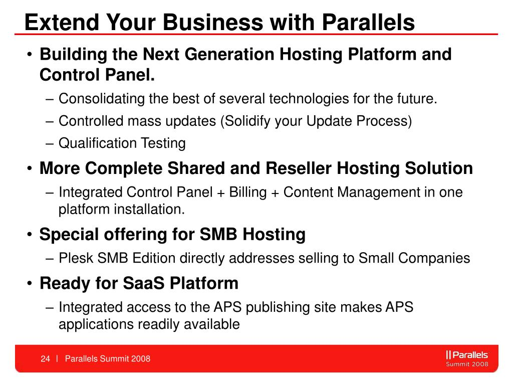 Extend Your Business with Parallels