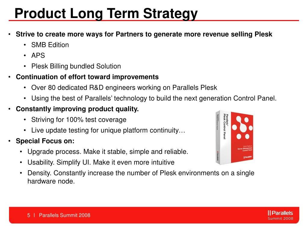 Product Long Term Strategy