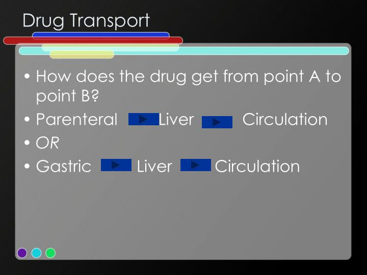 Drug Transport