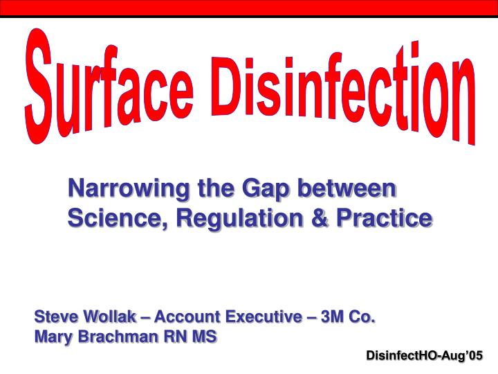 Surface Disinfection