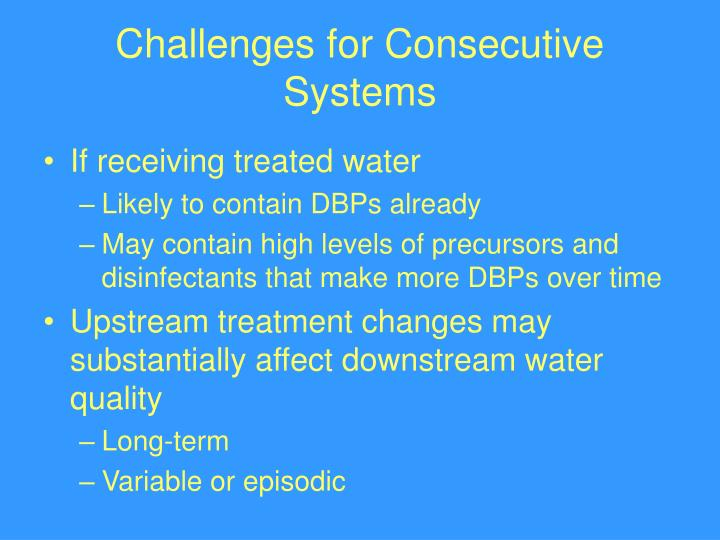 Challenges for Consecutive Systems