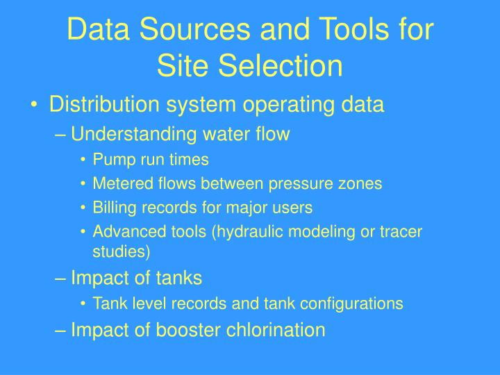 Data Sources and Tools for