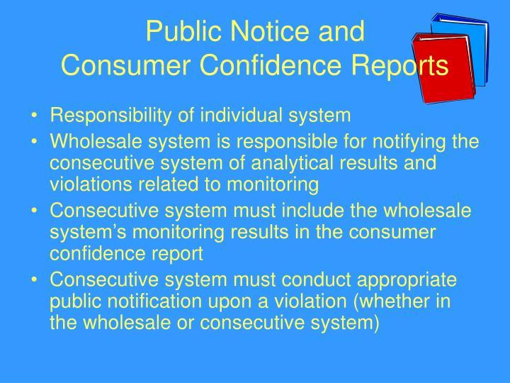 Public Notice and