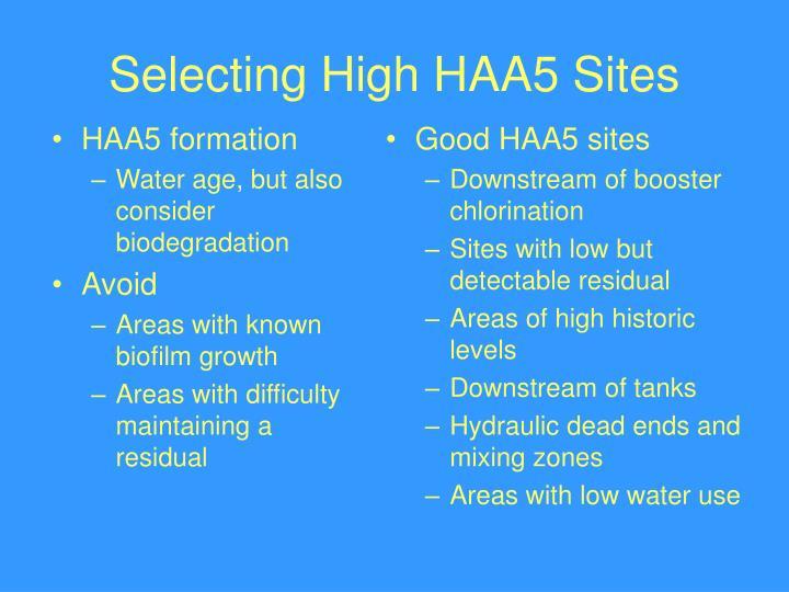 HAA5 formation